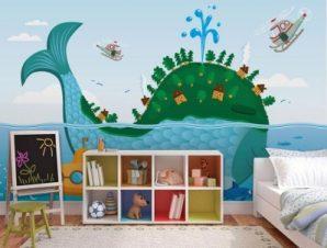 Φάλαινα Παιδικά Ταπετσαρίες Τοίχου 86 x 120 cm