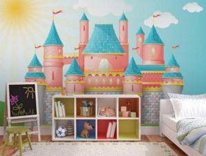 Παραμυθένιο κάστρο Παιδικά Ταπετσαρίες Τοίχου 89 x 115 cm