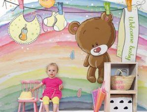 Καλωσόρισες μωράκι Παιδικά Ταπετσαρίες Τοίχου 100 x 100 εκ.