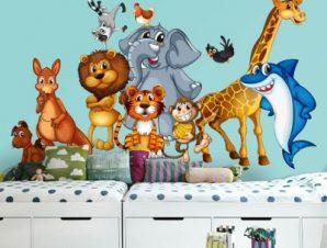 Βιβλίο της ζούγκλας Παιδικά Ταπετσαρίες Τοίχου 100 x 100 εκ.