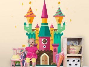 Μαγικό κάστρο Παιδικά Ταπετσαρίες Τοίχου 100 x 100 εκ.