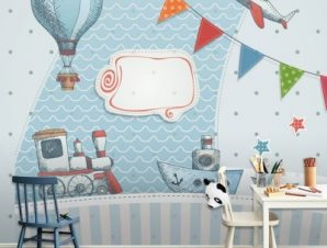 Γιορτή Παιδικά Ταπετσαρίες Τοίχου 100 x 100 cm