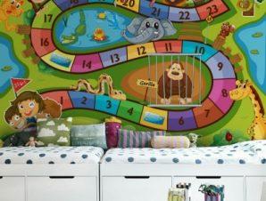 Παιχνίδι ζωολογικός κήπος Παιδικά Ταπετσαρίες Τοίχου 100 x 100 εκ.
