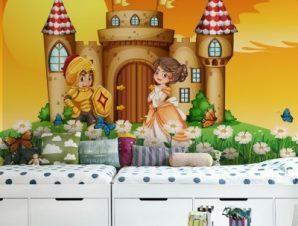 Κάστρο των ιπποτών Παιδικά Ταπετσαρίες Τοίχου 100 x 100 εκ.