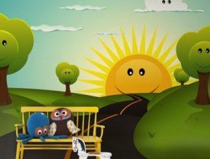 Καλοκαιρινό τοπίο Παιδικά Ταπετσαρίες Τοίχου 108 x 92 cm