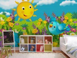 Ηλιόλουστη Μέρα Παιδικά Ταπετσαρίες Τοίχου 100 x 100 εκ.