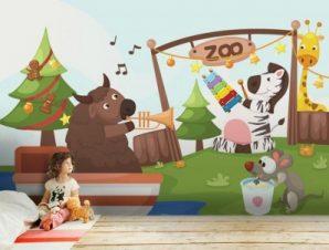 Ζωολογικός Κήπος Παιδικά Ταπετσαρίες Τοίχου 100 x 100 εκ.