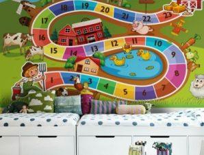 Επιτραπέζιο παιχνίδι Παιδικά Ταπετσαρίες Τοίχου 100 x 100 εκ.