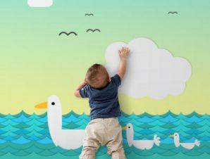 Παπάκια Παιδικά Ταπετσαρίες Τοίχου 100 x 100 εκ.
