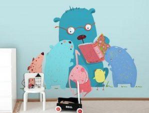 Ώρα για Παραμύθι Παιδικά Ταπετσαρίες Τοίχου 100 x 100 εκ.