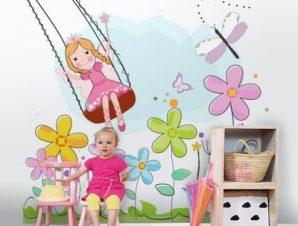 Νεράιδα Λουλουδιών Παιδικά Ταπετσαρίες Τοίχου 100 x 100 εκ.