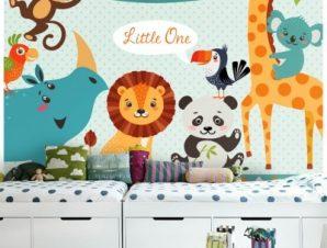 Zωάκια Καλωσορίσματος Παιδικά Ταπετσαρίες Τοίχου 85 x 119 cm
