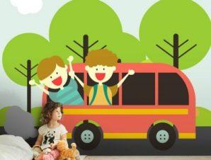 Ταξίδι Στη Φύση Παιδικά Ταπετσαρίες Τοίχου 100 x 100 εκ.