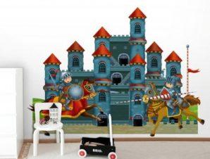 Κάστρο Ιπποτών Παιδικά Ταπετσαρίες Τοίχου 100 x 100 εκ.