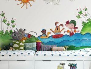 Ώρα για κολύμπι Παιδικά Ταπετσαρίες Τοίχου 100 x 100 εκ.