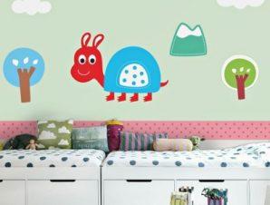 Χελώνα Παιδικά Ταπετσαρίες Τοίχου 100 x 100 εκ.