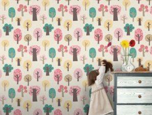 Δάσος Παιδικά Ταπετσαρίες Τοίχου 100 x 100 cm