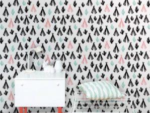 Ινδικό μοτίβο Παιδικά Ταπετσαρίες Τοίχου 100 x 100 εκ.