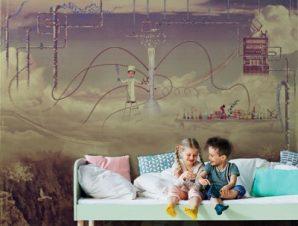 Εργαστήριο στον ουρανό Παιδικά Ταπετσαρίες Τοίχου 100 x 100 εκ.